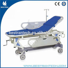 BT-TR002 CE ISO Hospital top sell cheap price patient transport folding stretcher