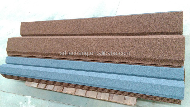Stone Coated Steel Roof Tile/Rainbow Tile/ Beige Red color tile