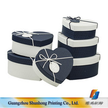 Factory Price Hardcover Cheap Heart Shaped Cheap Jewelry Gift Paper Packaging Box With Ribbon