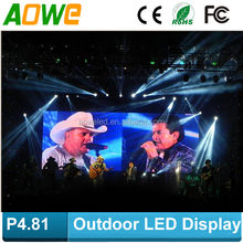 Big Advertising Billboard price P4.81 Outdoor portable LED Sign/LED for sale