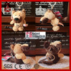 Promotion gift cute soft toy dog wholesale stuffed german shepherd dog plush animal keychain