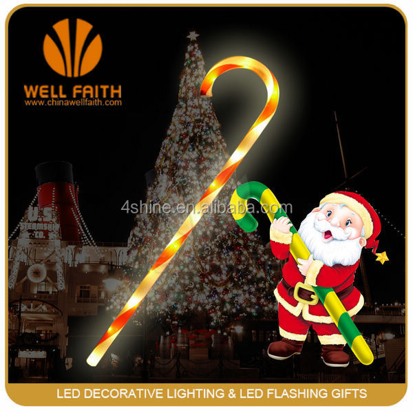 China Manufacturer Novelty Christmas Gifts Lighted Up LED Walking Sticks For Christmas Festival