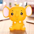 4inch cute vinyl animel money box, oem little elephant coin bank for gift promotion