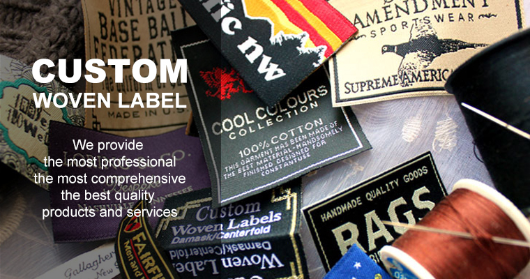 maker garment labels fabric labels Silver metallic woven label