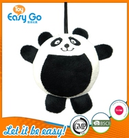 Customized Icti Bsci lovely stuffed panda keyring toys