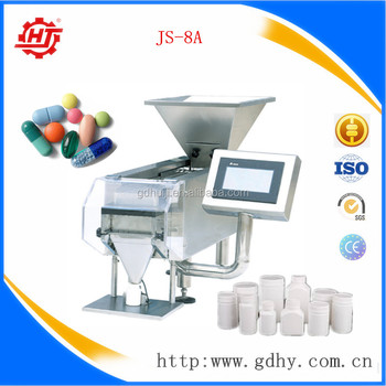 JS-8A 8Channel tabletop capsule counting machine capsule counter packing capsule in bottle