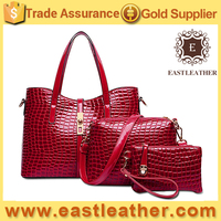 E1273 online shopping hong kong hotselling crocodile 3pc in 1 purses and handbags