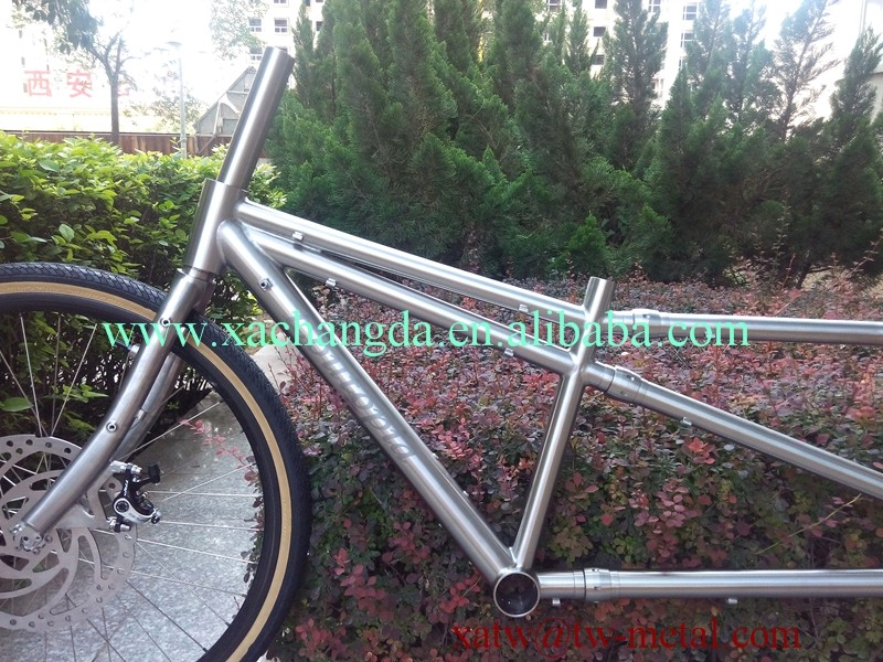2016 new design!! Ti mountain tandem bike frame titanium coupler tandem bike frame Ti S&S mtb tandem bike frame customize