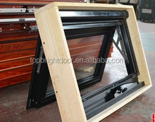 Construction foreign markets hot sale double glazed aluminium Top Hung Window with timber reveals