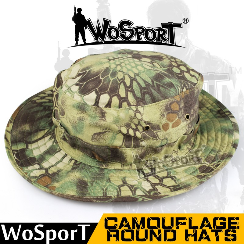 WoSporT Tactical Airsoft Sniper Sun-protective Bonnie Caps Hats bucket hats outdoor jungle military camouflage bob camo bonnie