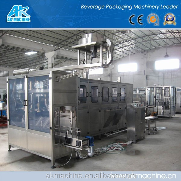 5 gal washing filling capping machine /drinking water bottling plant