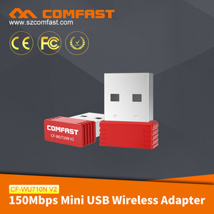 COMFAST Stock Products Status 150Mbps Mini External Antenna Android USB Wifi Dongle Wireless USB Wifi Adapter CF-WU710N V2