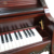 Shanghai Artmann red wood GD125C1 acoustic vintage upright piano