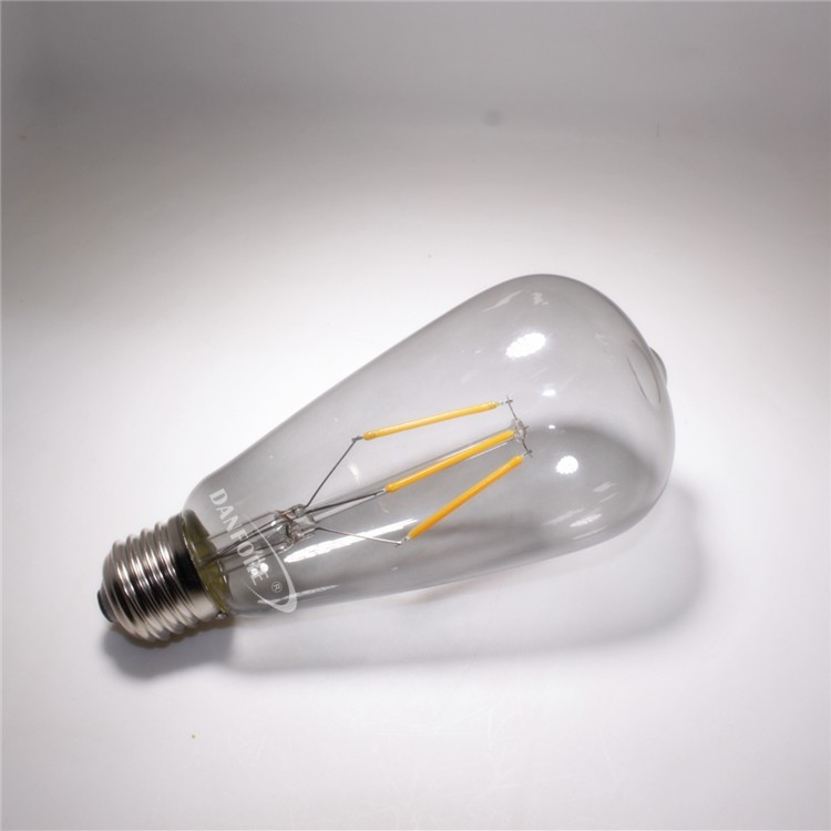 New product 2016 Dimmable 6.5W Smoked tint glass cover ST64 S21 vintage led bulb