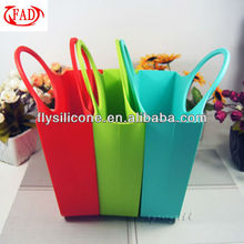 2013 Hot Selling Eco-Friendly Colorful Silicone Bag Shopping Bag All Purpose Handbag Ladies