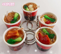 Japanese Chinese Mini Fake Food Cell Phone Purse Hand Bag Soup Bowl Barrels Key Charm Key Chains