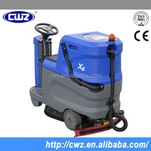 Large capacity big water tank automatic ride on floor scrubber