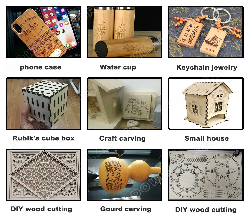 Mini diy desktop wood stamp acrylic co2 laser engraving and cutting machine