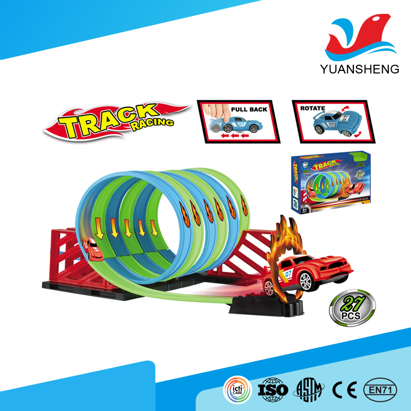 best selling child racing game car track toy for easy operate