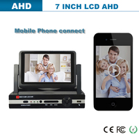 2014 new products h.264 7 Inch digital LCD monitor, digital cctv dvr 4ch & mobile phone surveillance 8ch H.264 Network Embedded