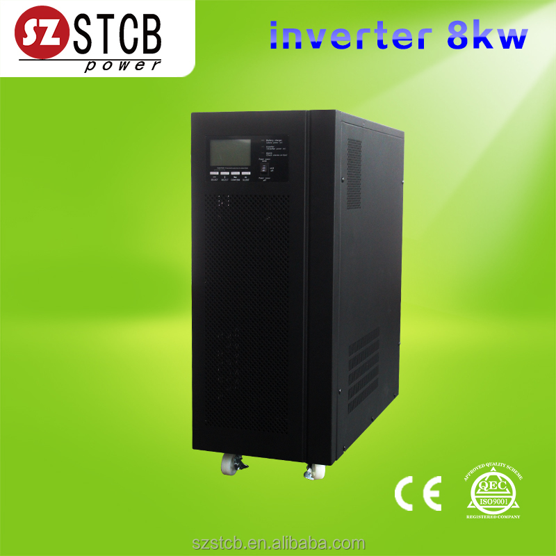 Pure sine wave inverter 8000w with ac charger optional solar charger