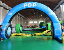 PVC Pop music run start entrance Inflatable cheap entrance arch design Inflatable entrance gate for Advertising