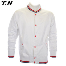 Blank baseball jackets white