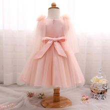 guangzhou new design 8 years tulle wedding for girls satin flower girl dress patterns