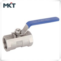 2015 Hot Sell Stainless Steel DN15 3/4Inch CF8M 1000 WOG One-PC Ball Valve Price