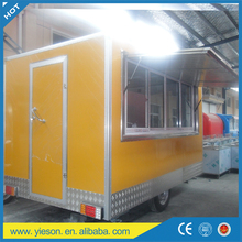 free moving mobile food trailer / easy operation beverage cart service equipment van truck /china sale adjustable mobile kitchen
