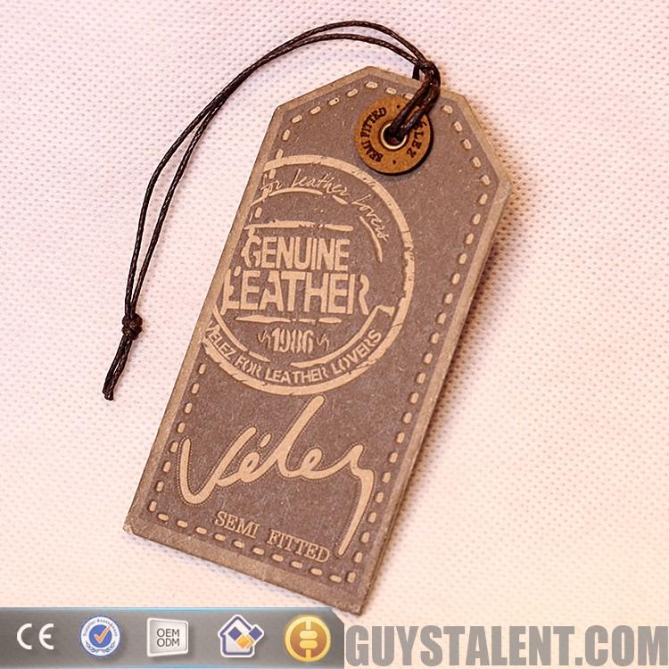 2018 custom hand made old embossing brand name clothing label tag