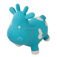 Cute Inflatable Milk Cow, Inflatable Bouncing Animal Toys, Inflatable Jumping Animal for Kids