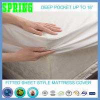 Latest double bed designs memory foam mattress protector, waterproof crib fiited sheet. Pocket spring mattress