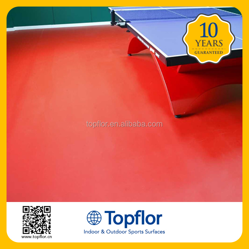 Topflor Table tennis competition venues flooring pvc sports flooring