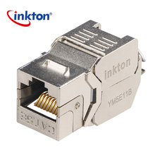 Chinese Supplier Inkton180 degree Tool Less Cat5e Rj45 STP FTP Female Modular Keystone Jack for network cabling solution