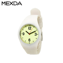 Custom children boy girl cute silicone watch for kids white waterproof sports watch