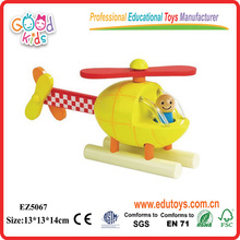 Mini Copter Toys,Wooden Educational Plane Toys for Kids