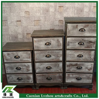 european style antique wood cabinet / wood storage cabinet/ wood drawer