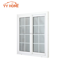 Two Track Aluminium Sliding Window Decoration Bar Grill Design