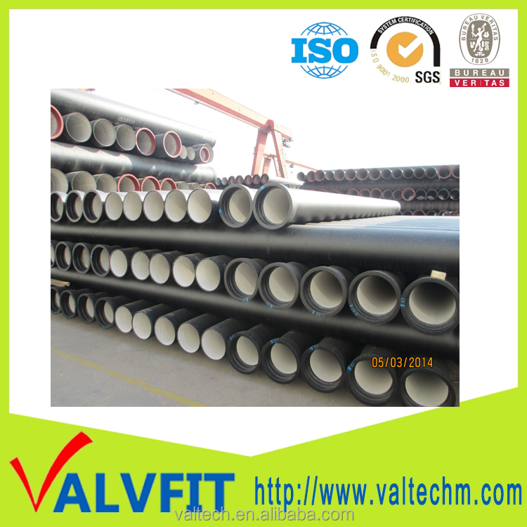 underground waterworks pipelines industry Ductile Iron cast Pipe