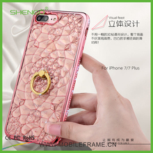 China Supplier Mobile Phone Accessories Fashion Luxury Stone Phone Case,Soft TPU Bling 3D Mobile Phone Case for iPhone 5s