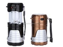 Outdoor Solar Power Portable Lantern Rechargeable Night Light Hiking Lamp Torch