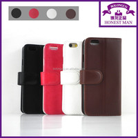 TPU inside case flip leather wallet case for iphone 6