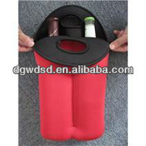 Insulating Neoprene Insulates & Protects New 2 Bottle Red Wine Bag