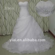 JJ2613 crystal Ruffle organza skirt wedding dresses country style