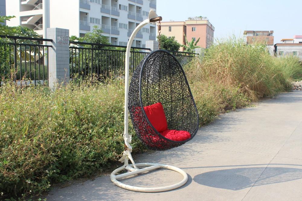 Crisantemo huevo silla colgante de mimbre muebles de for Silla huevo colgante