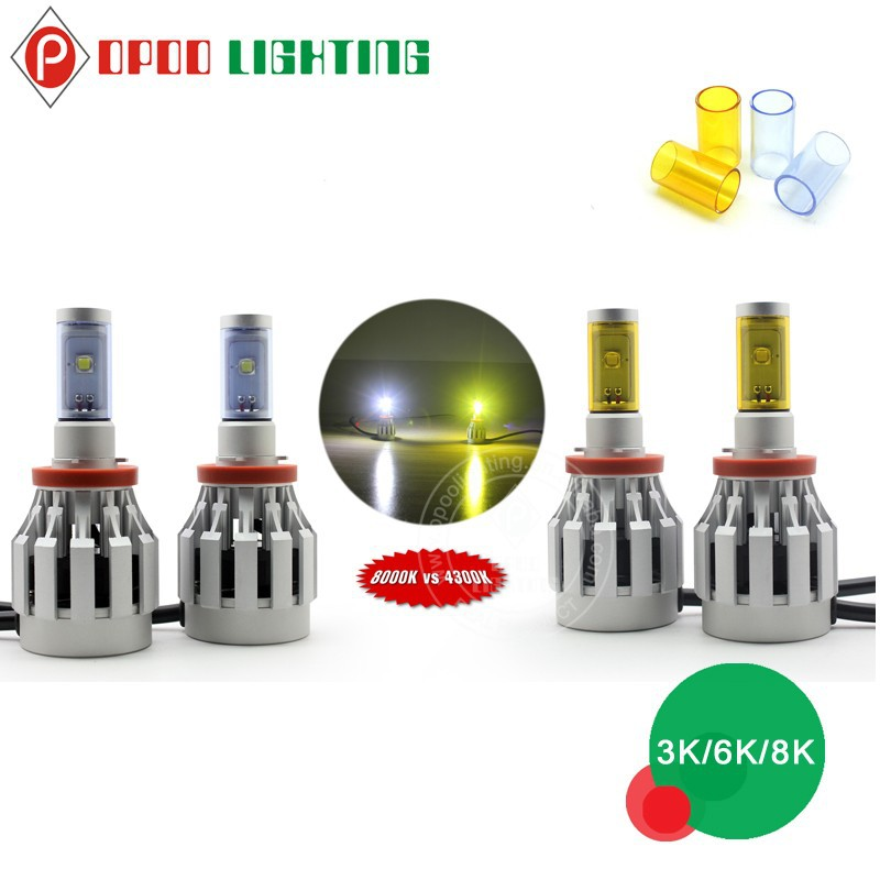 Color change car h4 led headlight bulbs, Super bright 3000lm car h4 led headlight bulbs