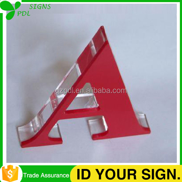 Solid Clear Acrylic Alphabet Letter for Sign Advertising