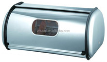 stainless steel bread box bread tray with window