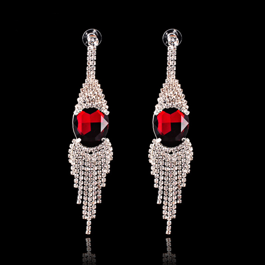 New design ladies rhinestone fashion earring crystal earrings